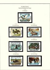 STATE OF VIRGINIA HUNTING PERMIT STAMPS 1988-2004 ON 3 PAGES CV $197 BT6454