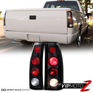 For 88-98 Chevy C10 Silverado Tahoe Suburban GMC Sierra Yukon Black Tail Light
