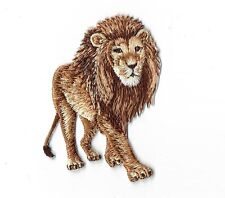 Natural African Lion - Walking - Iron on Applique/Embroidered Patch