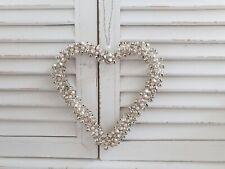 Herz aus Glöckchen zum hängen silber