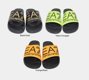 Emporio Armani Men's Sliders Slides with Maxi Logo Multicoloured UK 6.5-10.5
