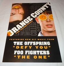 Orange County~Foo Fighters~Orig Promo Poster~12x18~Double Sided~Jack Black~2002~