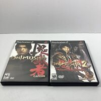 ONIMUSHA 1 & 2 (Sony Playstation 2 ps2) CIB Lot - WARLORDS / SAMURAI'S DESTINY
