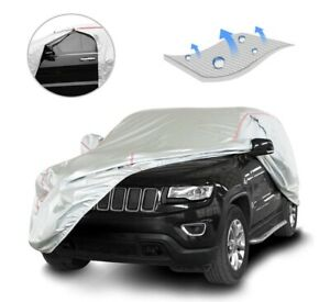 Tecoom Water Resistant Car Cover, Silver Coated size YL
