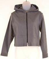 DKNY Girls Jacket 11-12 Years Grey Striped Viscose  DZ09
