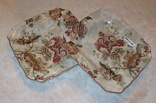 "NWOB ~ SET OF 2 ~ 222 FIFTH Gabrielle Cream Square 8.5"" Salad Plates"