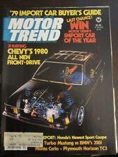 Motor Trend Magazine April 1979 Chevy's All New Front Drive BMW 320i (B1) W5 Z9