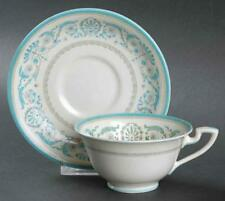 Vintage ROYAL WORCESTER Beauchamp Blue Footed Coffee/Tea Cup & Saucer Set