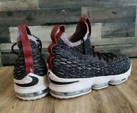 Men's Nike LeBron XV 15 Pride Of Ohio Black Taupe Grey Size Sz 17 897648-003