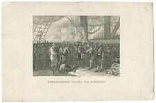 GRAVURE 19e LE BOMBARDEMENT D'ALGER EN 1692 PAR DUQUESNE GRAVURE ANCIENNE