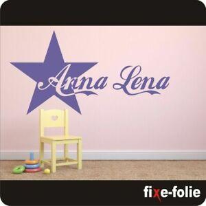Wandtattoo Kinderzimmer l Stern mit Wunschnamen l Name l Kind #125