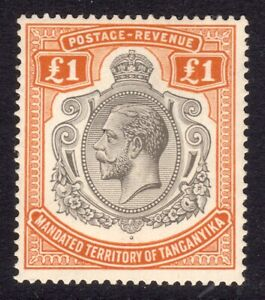 TANGANYIKA 1927-31 KGV Definitive £1 UM / MNH, SG 107 cat £275
