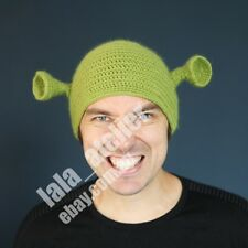 Man's Shrek hand made winter snow beanie, perfect for fun, party after ski.