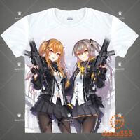 New Anime Girls Frontline Casual White Unisex Short Sleeve T-Shirt Tee Tops #V19