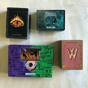 Net Runner Wyvern Jyhad Middle Earth the Wizards Card Game Lot Starter Deck