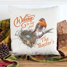 Personalised Robin Home Sweet Home Cushion Cover Pillow Gift House Warming KC44