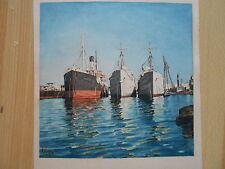 Porto GENOVA Genova vaporetti motonave sconosciuto Doride sö 1956 Maritim Harbour