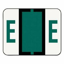 Smead A-Z Bar-Style End Tab Labels, Letter E, Dark Green, 500 Labels (SMD67075)