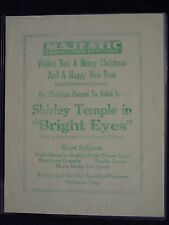 1934 Pre-Release BRIGHT EYES Shirley Temple Flyer & Photo BELOIT,WI Theater Show