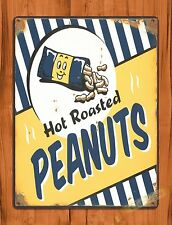 "TIN-UPS TIN Sign ""Hot Roasted Peanuts"" Bar Man Cave Food Snacks  Kitchen Store"