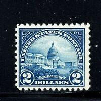 [FF]  US #572 MNH OG   1923  $2 Flat Press Regular ~ Perf 11X11...Free Shipping!