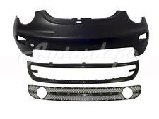 FOR 1998 NEW BEETLE FRONT BUMPER COVER PRIMED LOWER SPOILER GRILLE W/FOG HOLE 3P