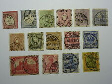 Lot 669 miscellaneous stamps stamp Germany empire annee 1872 - 1904