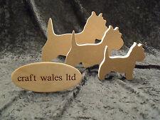 West Highland Terrier 18mm MDF Freestanding Westie Dog Wooden Set of 3 dogs