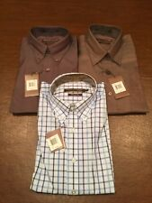 NEW Lot of 3 FORSYTH OF CANADA Mens Button-Down Dress Shirts Large Solid Check