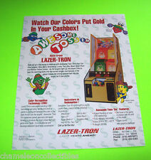AWESOME TOSS EM By LASER-TRON ORIG NOS REDEMPTION ARCADE GAME MACHINE FLYER