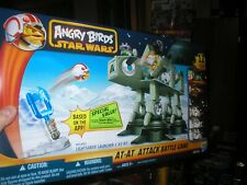 STAR WARS ANGRY BIRDS AT-AT ATTACK BATTLE GAME. 12 FIGS, LIGHTSABER LAUNCHER & A