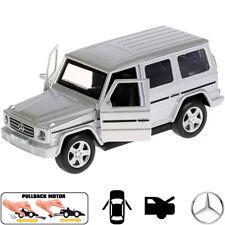 Diecast Metal Model Car Mercedes-Benz G-Class G-Wagen Gelandewagen Silver Toy