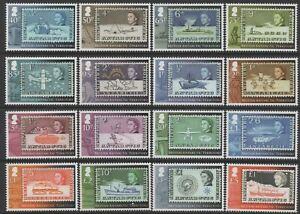 British Antarctic Territory 2013 Stamp Anniv Definitives set of 16 Mint Unhinged