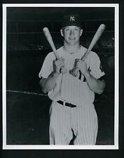 Mickey Mantle with two bats Press Photo Donald Wingfield Sporting News Yankees