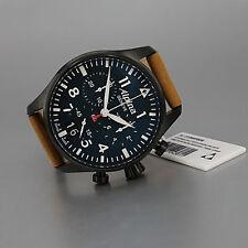 ALPINA  Startimer Pilot Big Date Chronograph PVD Quarz  N E U  UVP  995€