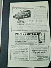 ROYAL TYPEWRITER AD PAGE FROM MAGAZINE, 1904 INDEPENDENT,10X6 SIZE