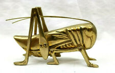 Brass Grasshopper Decorative Figurine 5 X 3 X 1.25 inches