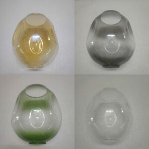 Irregular Clear Fading Green Grey Amber Glass Replacement Lamp shade for Lindsey