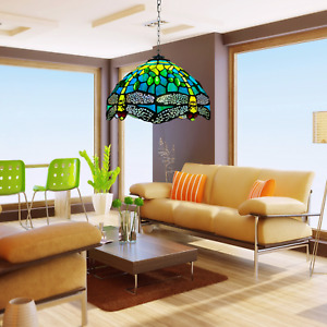 """Unique Tiffany style 10"""" Pendant Shade Lamp Multicolor Stained Glass Design Lamp"""