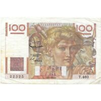 1952 France 100 Francs Pick 128d - Very Nice Circ Collector Note! - d1927sut2