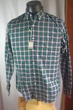 Men's J. Crew Heathered Cotton Plaid Shirt-XS-Green-Button Down-NWT