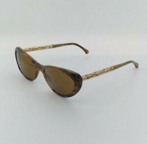 Chanel 3270 1101 Eyeglasses Frames Glasses Marbled Brown / Gold Bijou 58-15-135