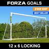FORZA Football Goal   12ft x 6ft PVC Goal   Garden Football Goal   Kid Size Goal
