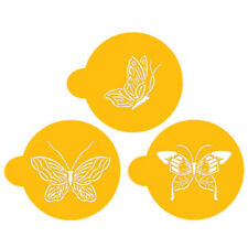 "Designer Stencils Butterfly Cookie Tops, fits within a 3.5"" circle"