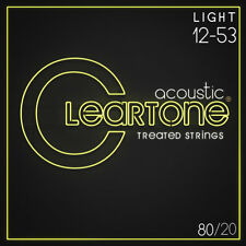 Cleartone 7612 Acoustic Guitar Strings 80/20 Bronze Light Set Coated 12-53