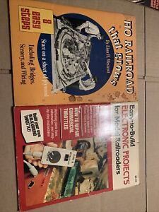 Vintage HO model railroad locomotive and car plan books Kalmbach Books