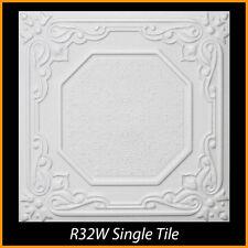 R32 White Styrofoam Glue Up Ceiling Tiles Lot of 8pcs 21.6 sq ft