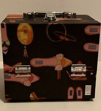Caboodles Vintage Make-Up Cosmetic Organizer Jewelry Box Train Case 6 Drawers