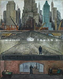 Diego Rivera Frozen Assets Giclee Art Paper Print Paintings Poster Reproduction