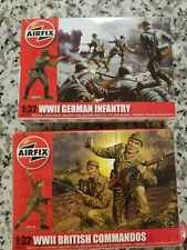 Airfix 1/32 Scale German Infantry and British Commandos - 14 Figures per box